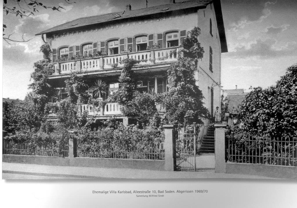 Alleestrase 10 Villa Karlsbad. PK W. Sindt